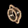 Pernille Müller - KANT ring i oxideret sølv med guldkant og FIKS sideringe i guld