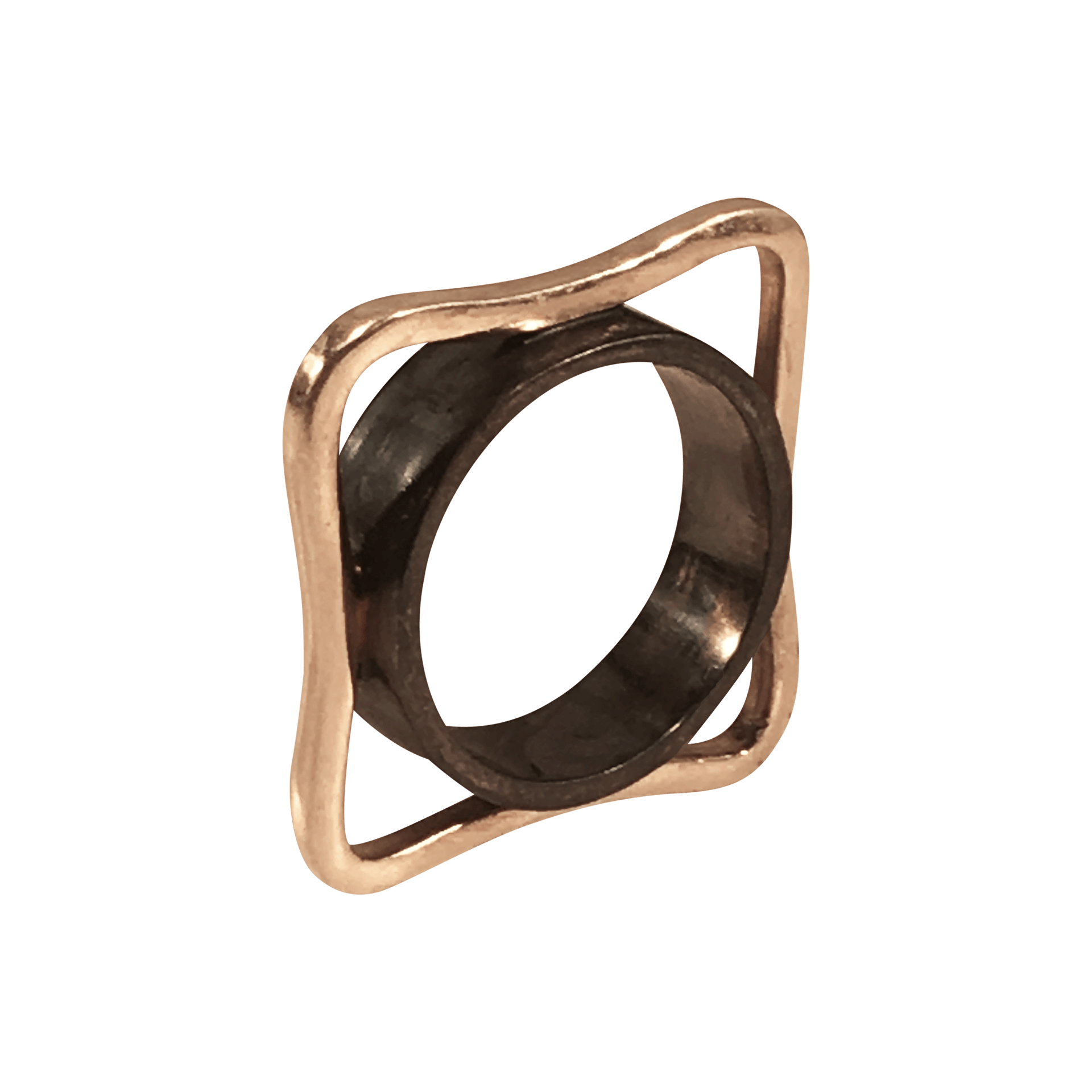 Pernille Müller KANT Ring in gold and oxidised silver
