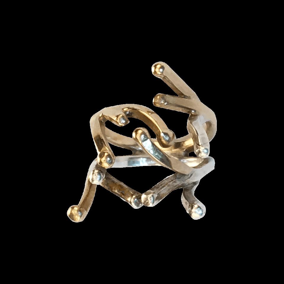 Pernille Müller – KULØR – signaturring i sølv og 14 karats guld 6