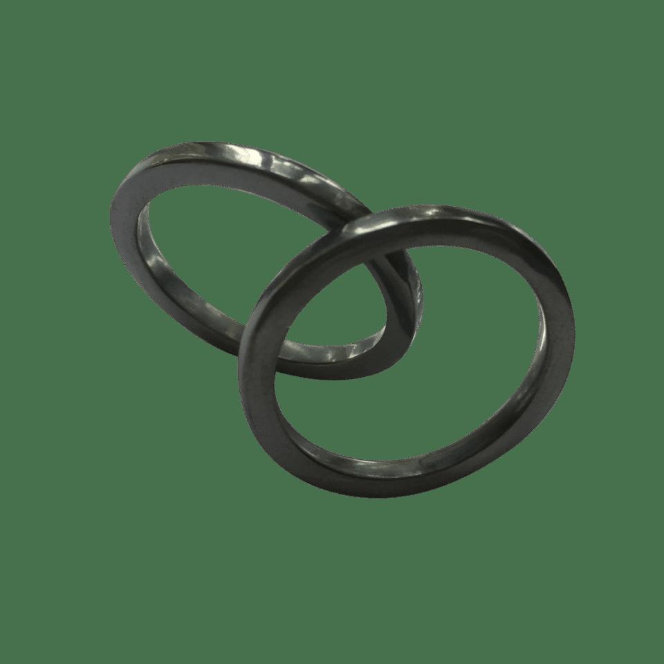 Pernille Müller – FIKS – ringe i oxideret sølv 3