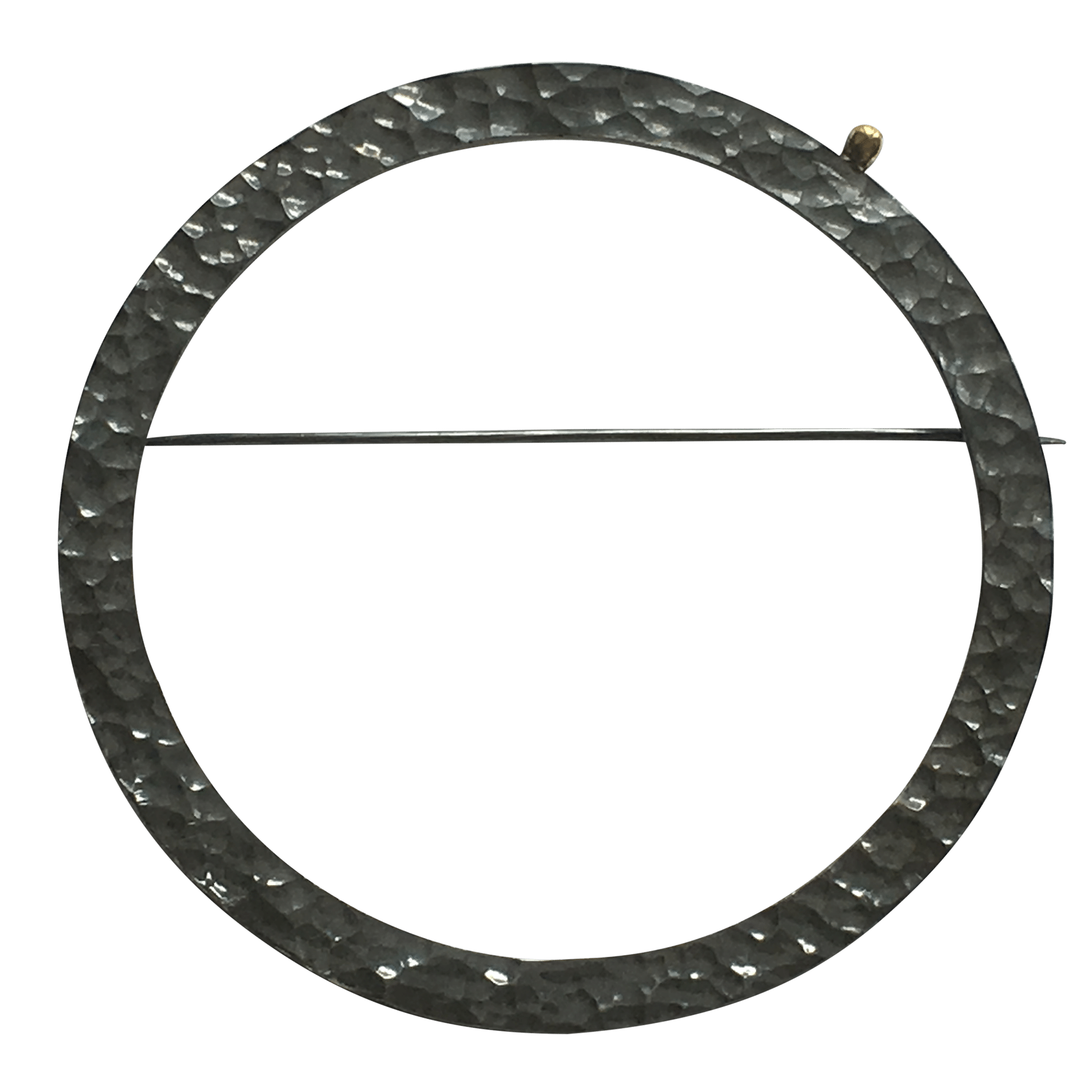 Pernille Müller - FRODIG brooch in oxidised silver