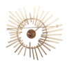Pernille Müller - STRÅLE broche - her vist i sølv med smykkesten i Leopardskin Jasper