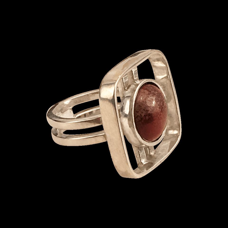 RAFFI – Ring i sølv med smykkesten i Rainbow Stone