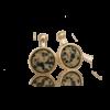 Pernille Müller - SVEJ - øreringe Her vist i 14 karat guld, sterling sølv og smykkesten i Labrador Jasper