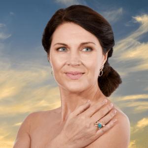 Pernille Müller HARMONI ring i guld og sølv med opal